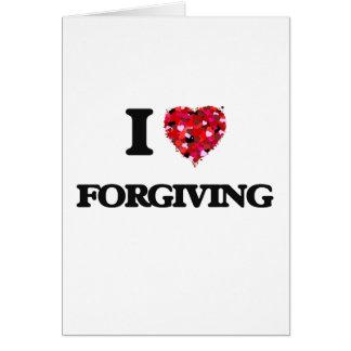 Eu amo perdoar cartão comemorativo