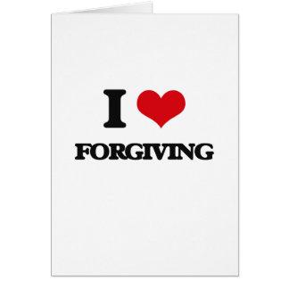 eu AMO perdoar Cartões