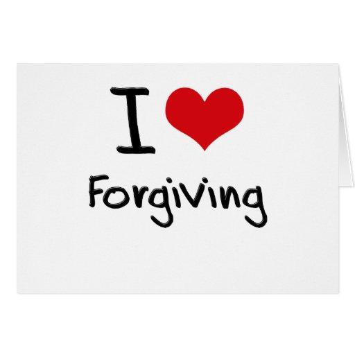 Eu amo perdoar cartoes
