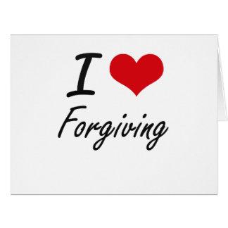 Eu amo perdoar cartão comemorativo grande