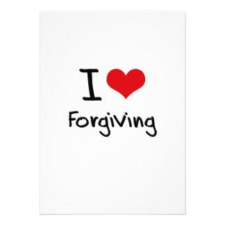Eu amo perdoar convite personalizados