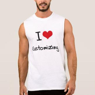 Eu amo personalizar camisetas sem manga