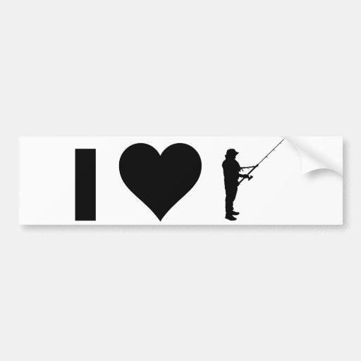 Eu amo pescar adesivos