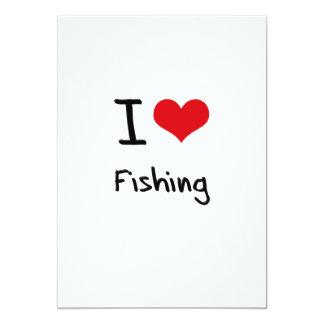 Eu amo pescar convites personalizados