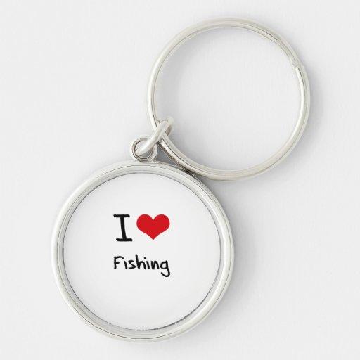 Eu amo pescar chaveiros