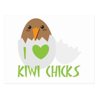 Eu amo PINTINHOS do QUIVI com um pássaro de Nova Cartão Postal