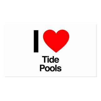 eu amo piscinas da maré cartão de visita