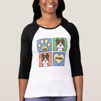 Eu amo Pitbulls Camiseta