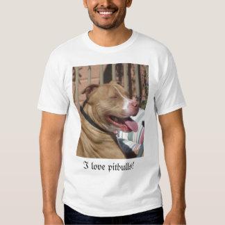 Eu amo pitbulls! tshirt