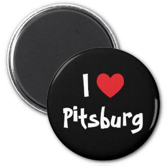 Eu amo Pitsburg Ímã Redondo 5.08cm