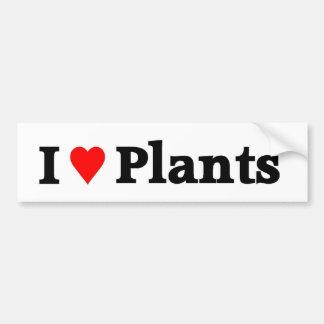 Eu amo plantas adesivo para carro