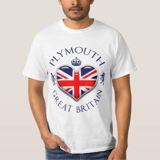 Eu amo Plymouth Camiseta