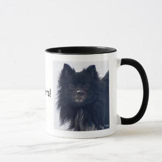 """""""EU AMO Pomeranians!"""" Caneca da pintura da"""