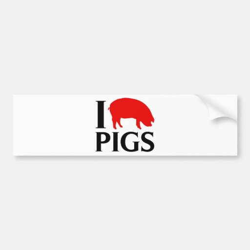Eu amo porcos adesivos