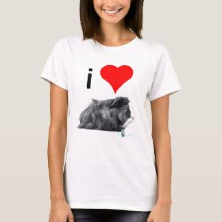 Eu amo porcos de Guines por tão sibilante Camiseta
