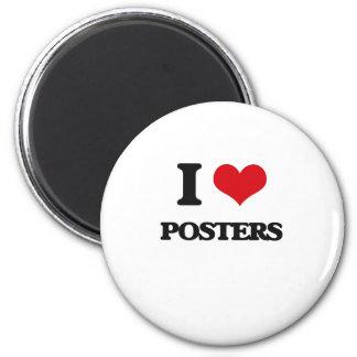 Eu amo posters imas de geladeira
