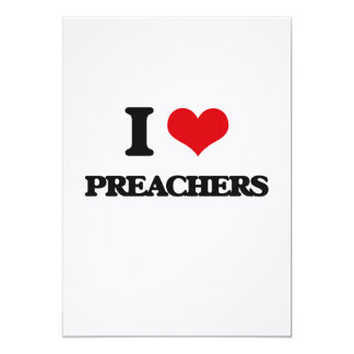 Eu amo pregadores convites personalizado