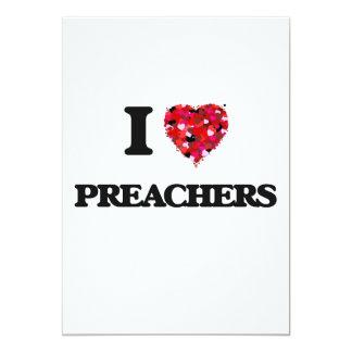 Eu amo pregadores convite 12.7 x 17.78cm