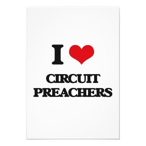 Eu amo pregadores do circuito convites personalizados