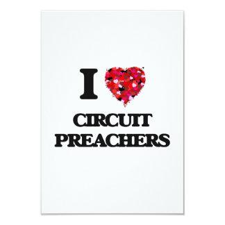 Eu amo pregadores do circuito convite 8.89 x 12.7cm