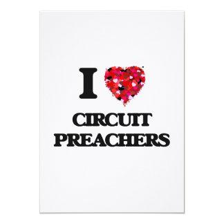 Eu amo pregadores do circuito convite 12.7 x 17.78cm