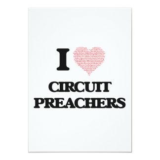 Eu amo pregadores do circuito (o coração feito das convite 12.7 x 17.78cm