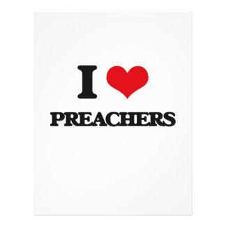 Eu amo pregadores modelo de panfletos