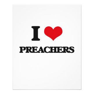 Eu amo pregadores modelo de panfleto