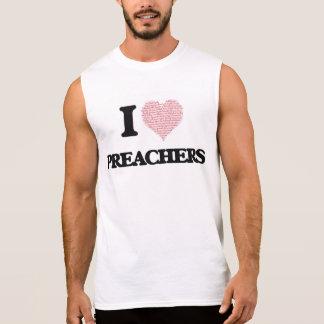Eu amo pregadores (o coração feito das palavras) camisetas sem manga