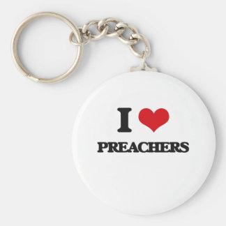 Eu amo pregadores chaveiros