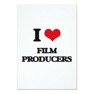 Eu amo produtores de cinema convite personalizado