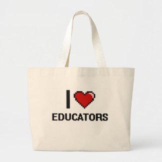 Eu amo professores sacola tote jumbo
