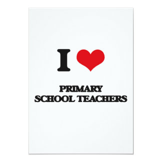 Eu amo professores de escola primária convite personalizado