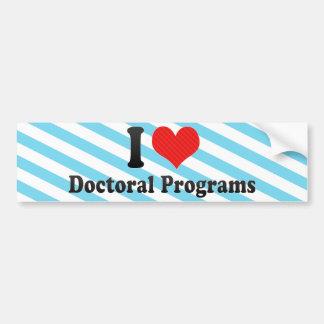 Eu amo programas doutorais adesivos