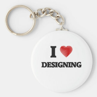 Eu amo projetar chaveiro