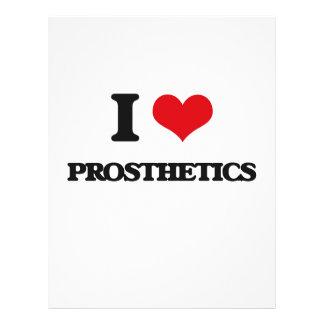 Eu amo próteses panfletos personalizado