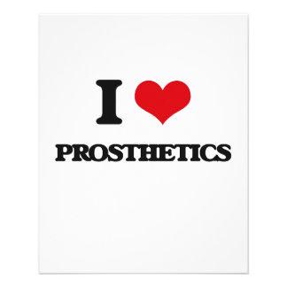 Eu amo próteses panfletos