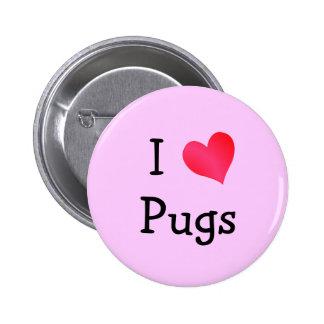 Eu amo Pugs Pins