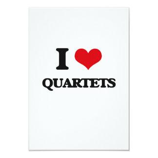 Eu amo quartetos convites