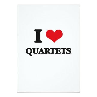 Eu amo quartetos convite personalizado