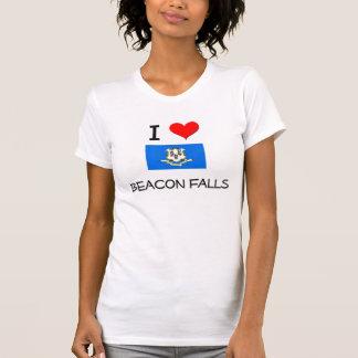 Eu amo quedas Connecticut da baliza Camisetas