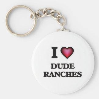 Eu amo ranchos de gajo chaveiro