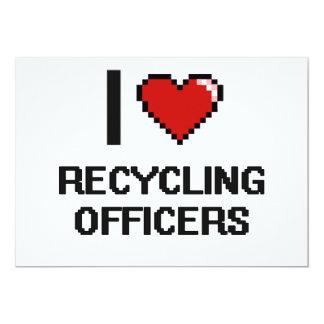Eu amo recicl oficiais convite 12.7 x 17.78cm