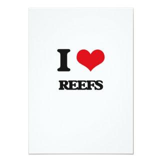 Eu amo recifes convites personalizados