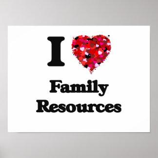 Eu amo recursos da família poster