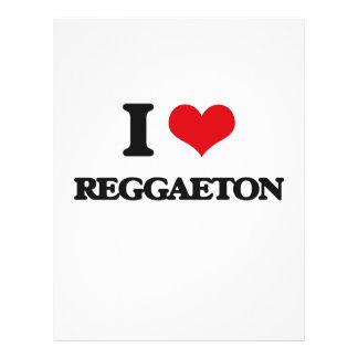 Eu amo REGGAETON Panfletos Personalizado