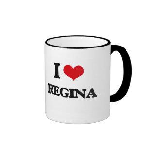 Eu amo Regina Caneca Com Contorno