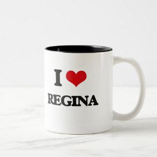 Eu amo Regina Caneca Dois Tons