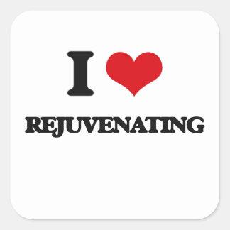 Eu amo Rejuvenating Adesivo Quadrado