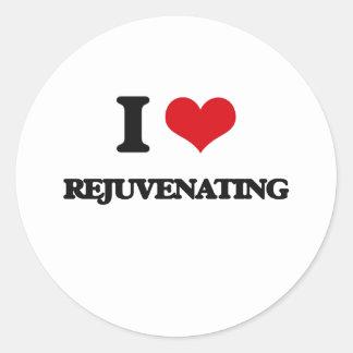 Eu amo Rejuvenating Adesivo Redondo